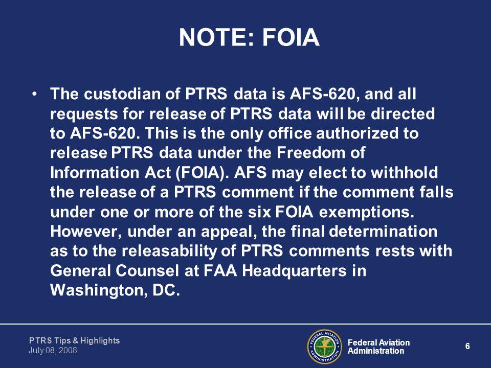 NOTE: FOIA
