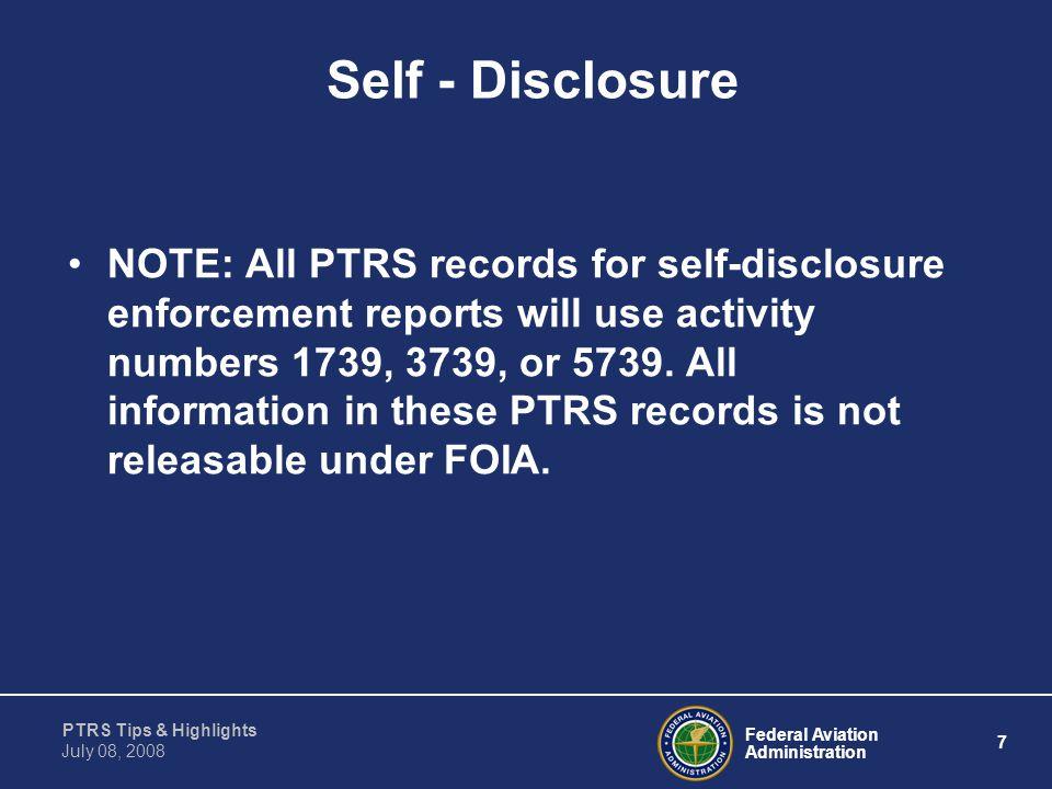 Self - Disclosure
