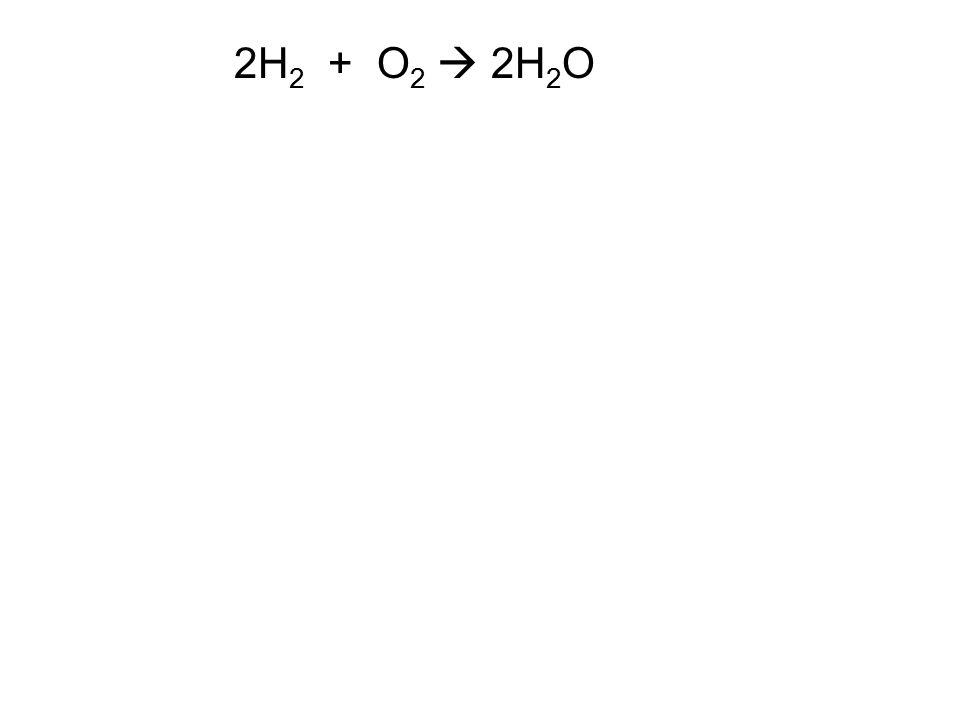 2H2 + O2  2H2O
