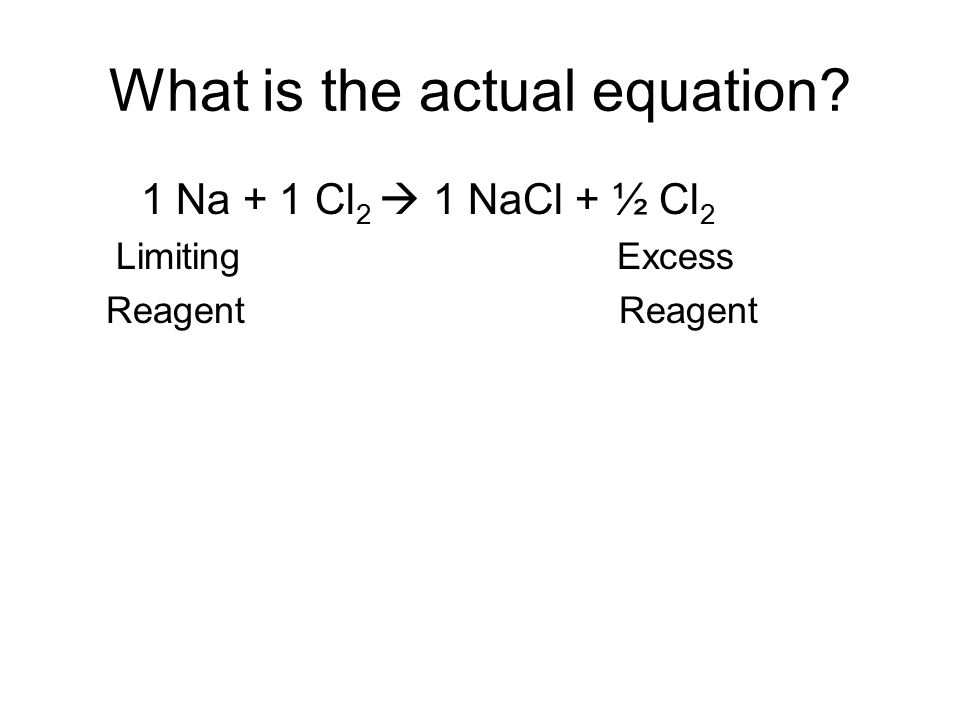 What is the actual equation