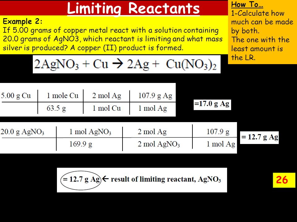 Limiting Reactants 26 How To…