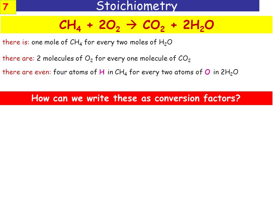 How can we write these as conversion factors