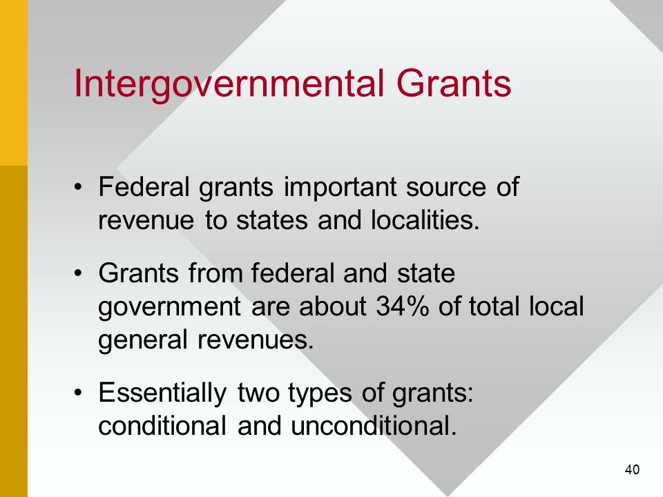 Intergovernmental Grants