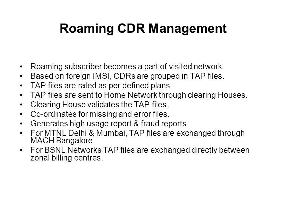 Roaming CDR Management