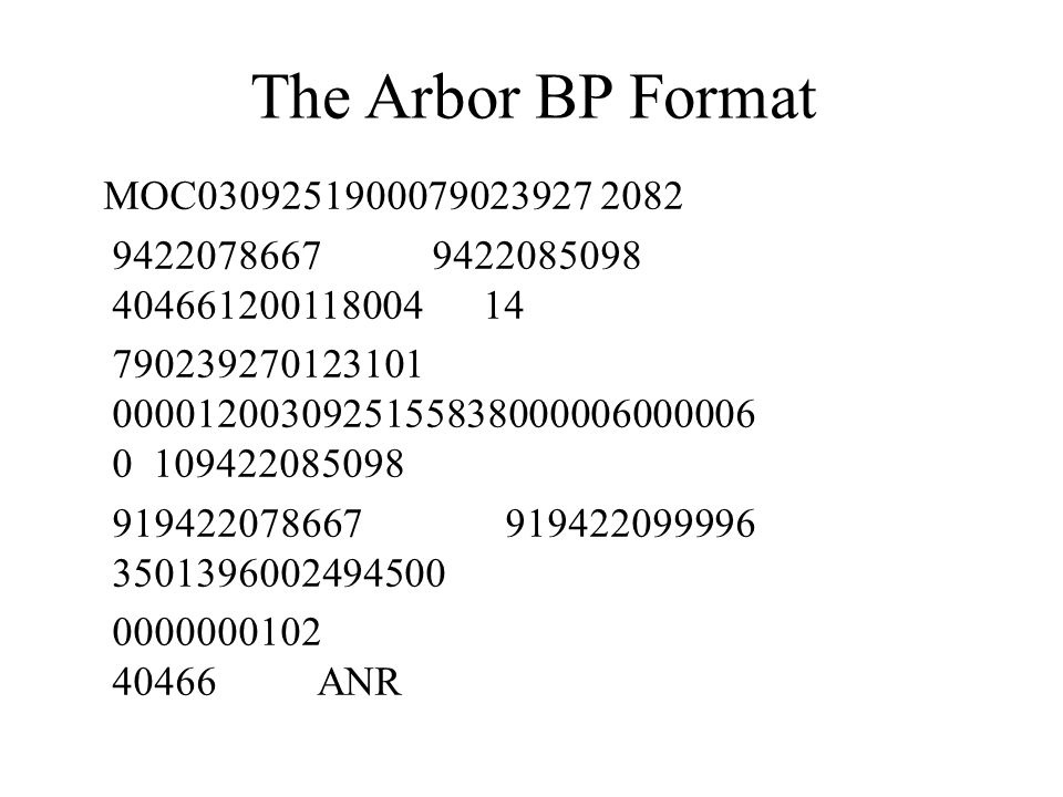 The Arbor BP Format MOC0309251900079023927 2082. 9422078667 9422085098 404661200118004 14.