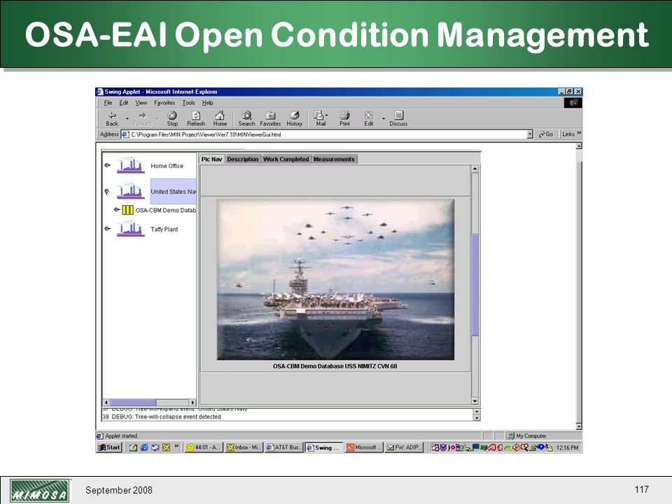 OSA-EAI Open Condition Management