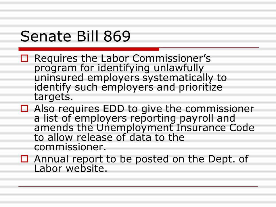 Senate Bill 869