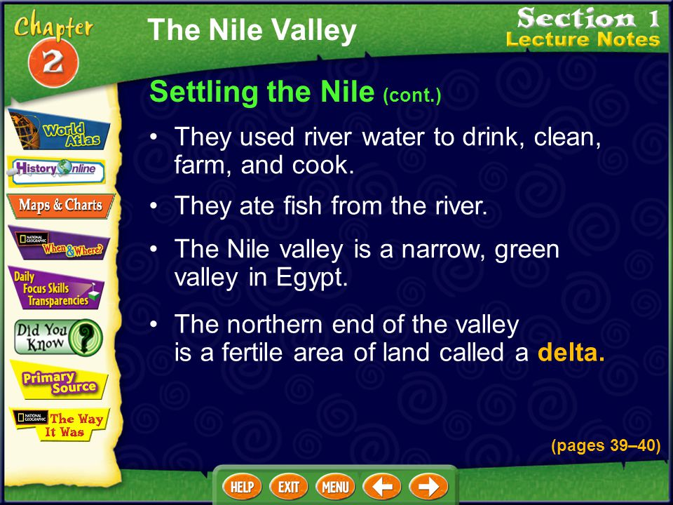 Settling the Nile (cont.)