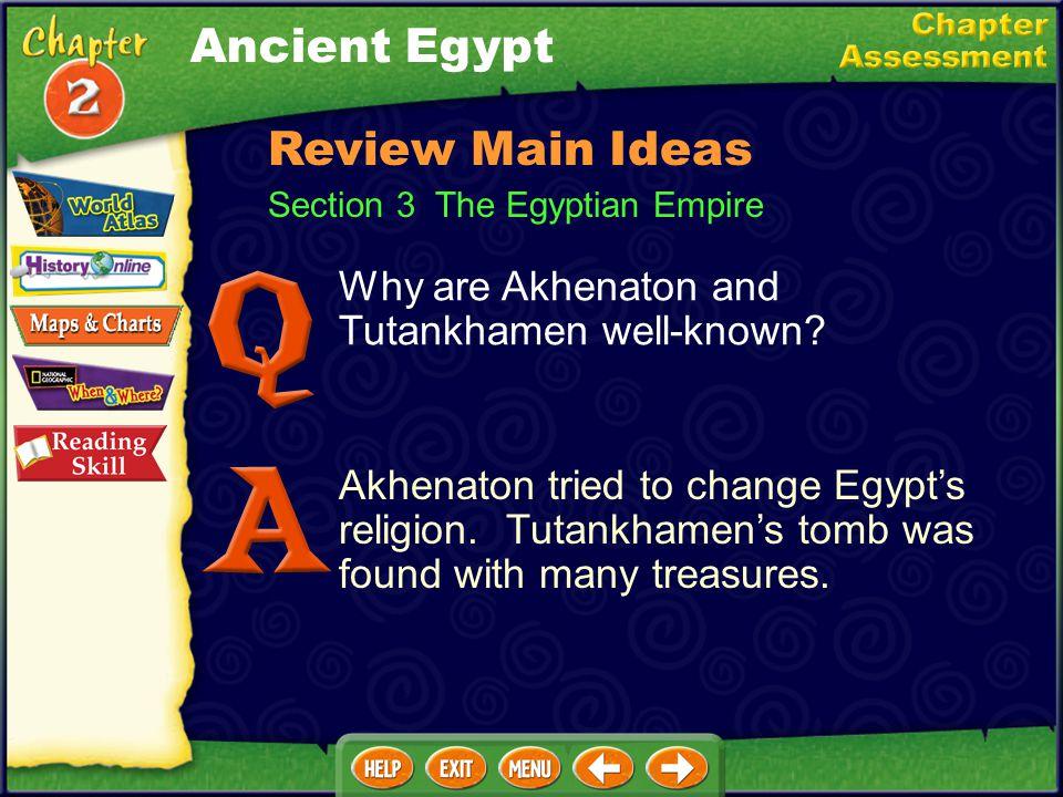 Ancient Egypt Review Main Ideas