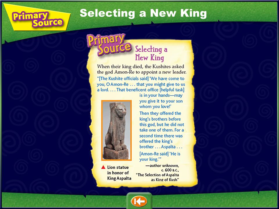 Selecting a New King