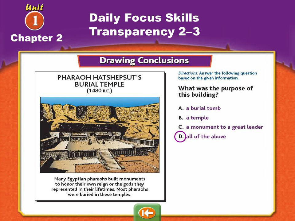 Daily Focus Skills Transparency 2–3