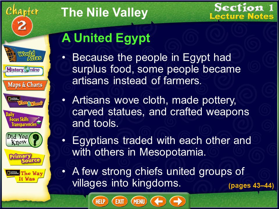 The Nile Valley A United Egypt