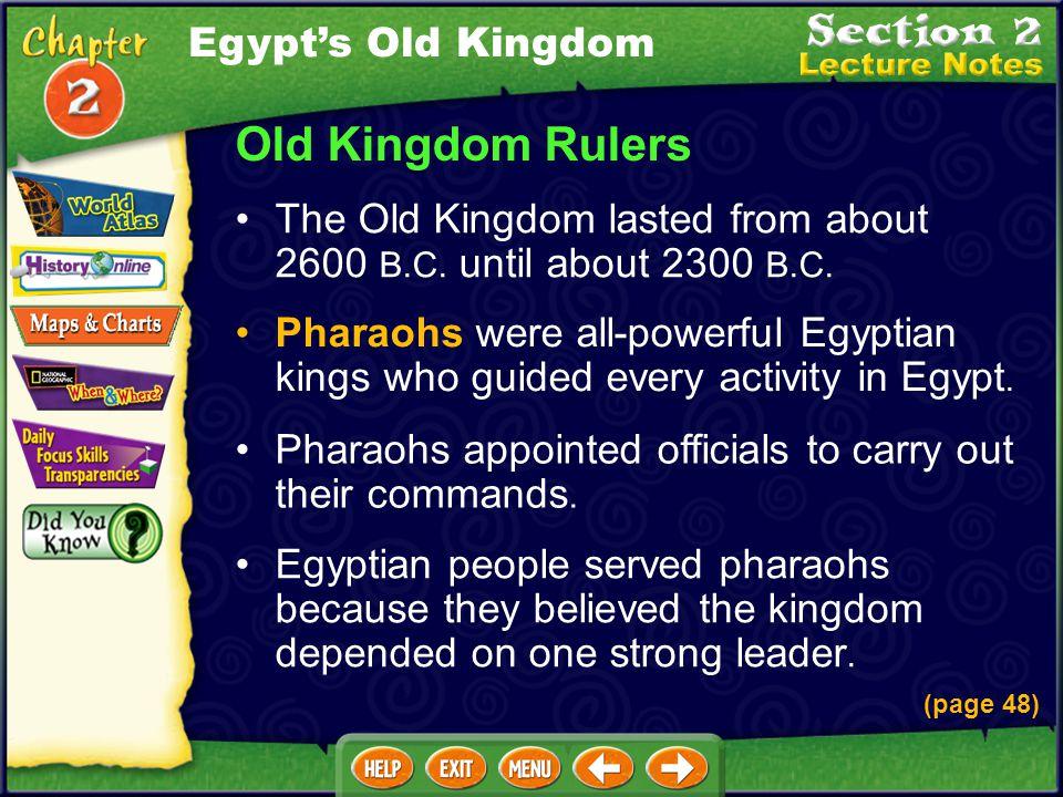 Old Kingdom Rulers Egypt's Old Kingdom