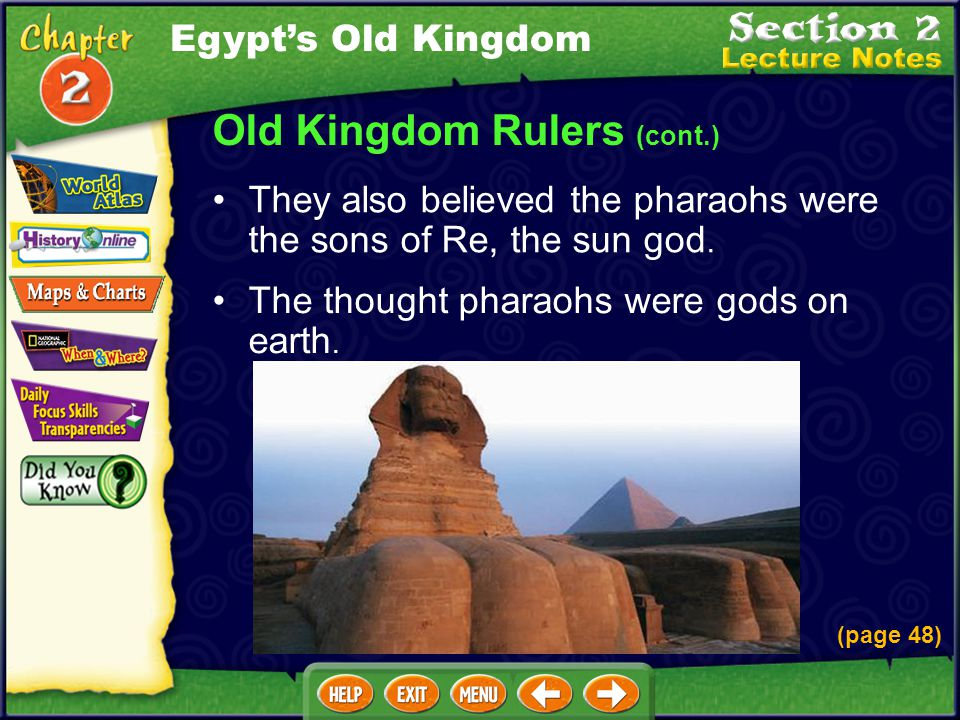 Old Kingdom Rulers (cont.)