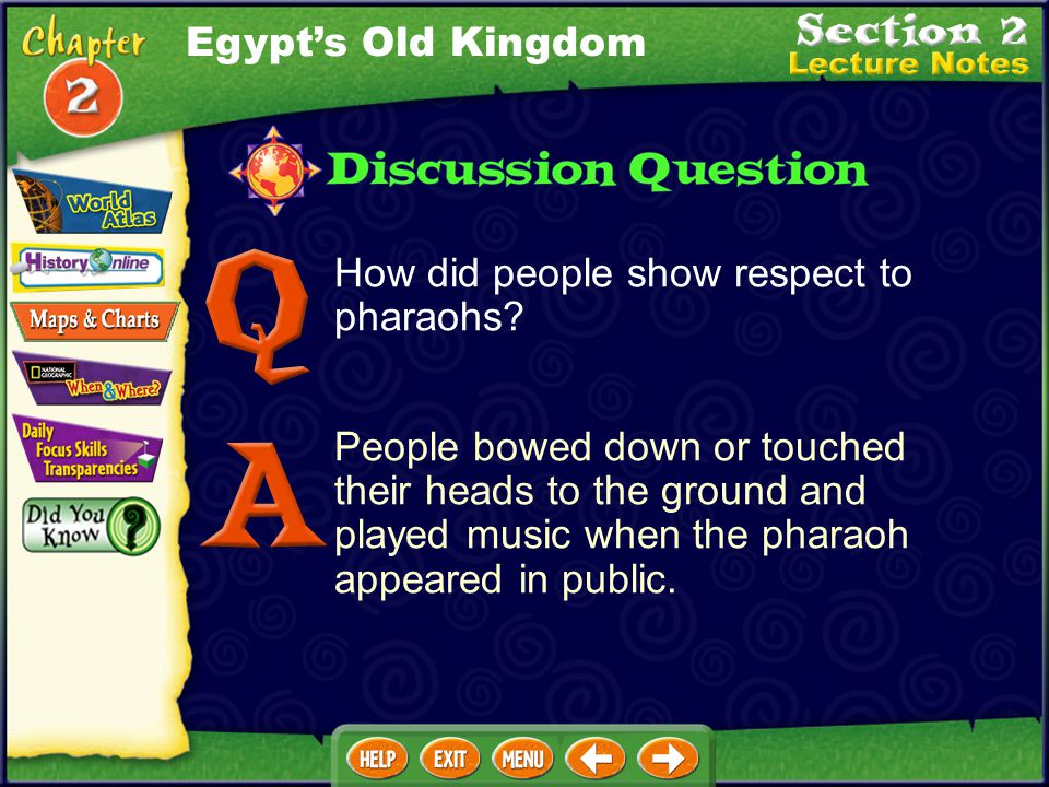 Egypt's Old Kingdom How did people show respect to pharaohs