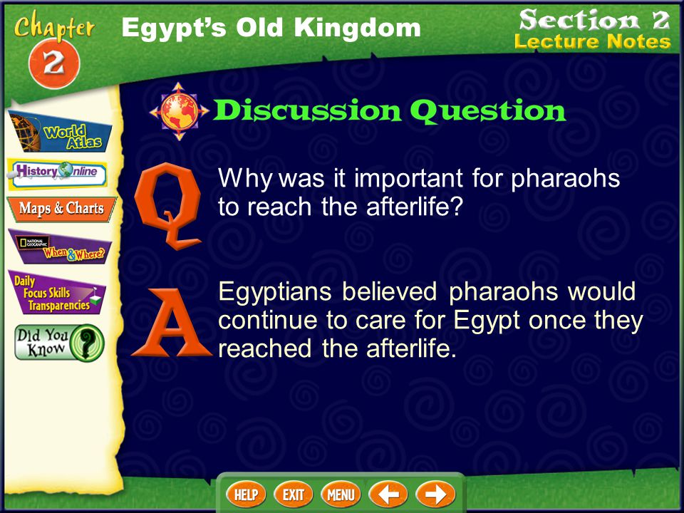 Egypt's Old Kingdom Why was it important for pharaohs to reach the afterlife