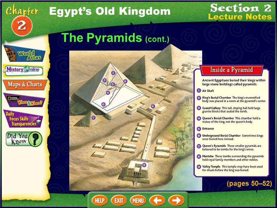 Egypt's Old Kingdom The Pyramids (cont.) (pages 50–52)