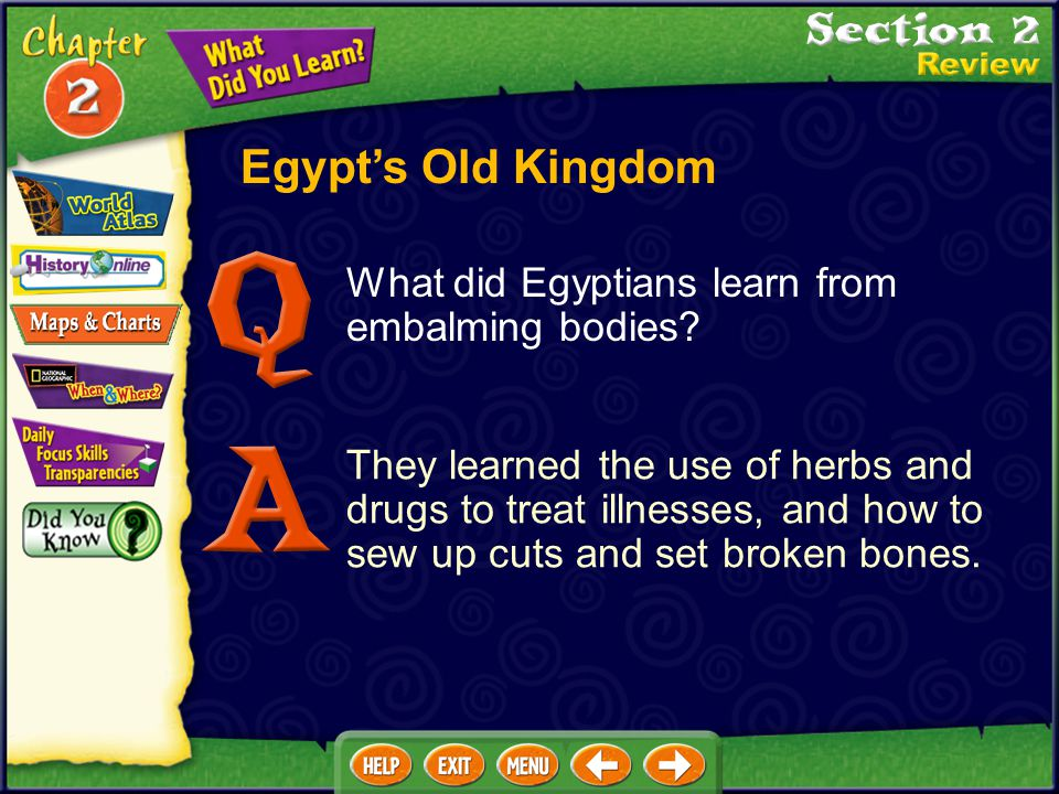 Egypt's Old Kingdom What did Egyptians learn from embalming bodies