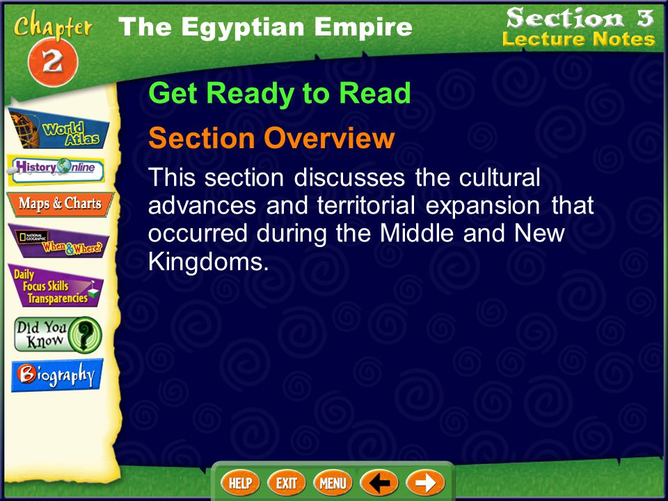 Get Ready to Read Section Overview The Egyptian Empire