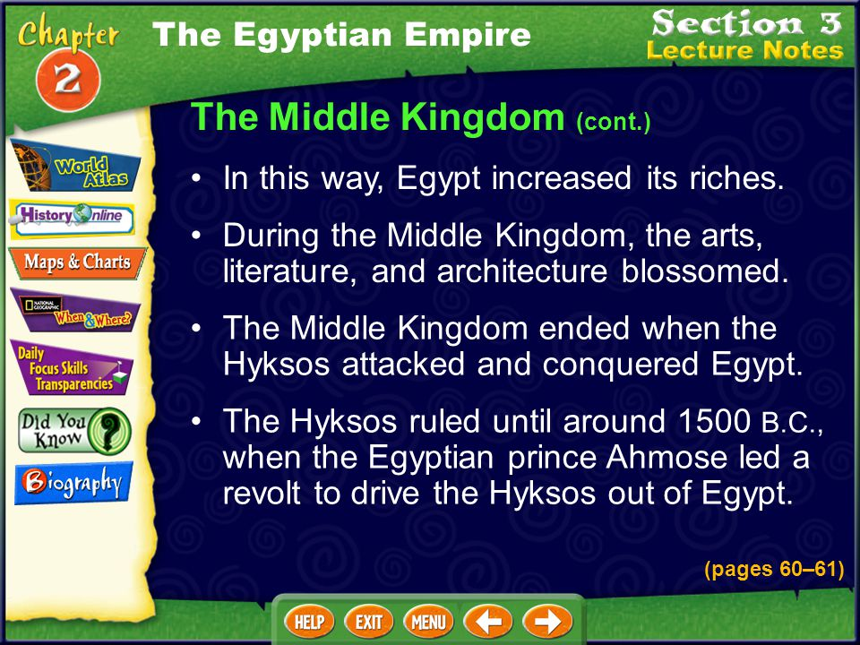 The Middle Kingdom (cont.)