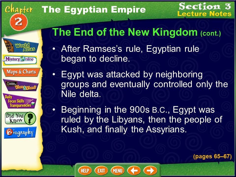 The End of the New Kingdom (cont.)
