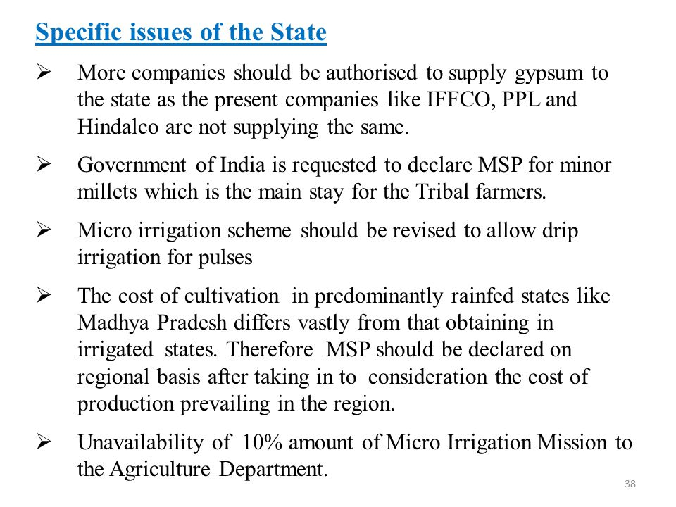 Specific issues of the State