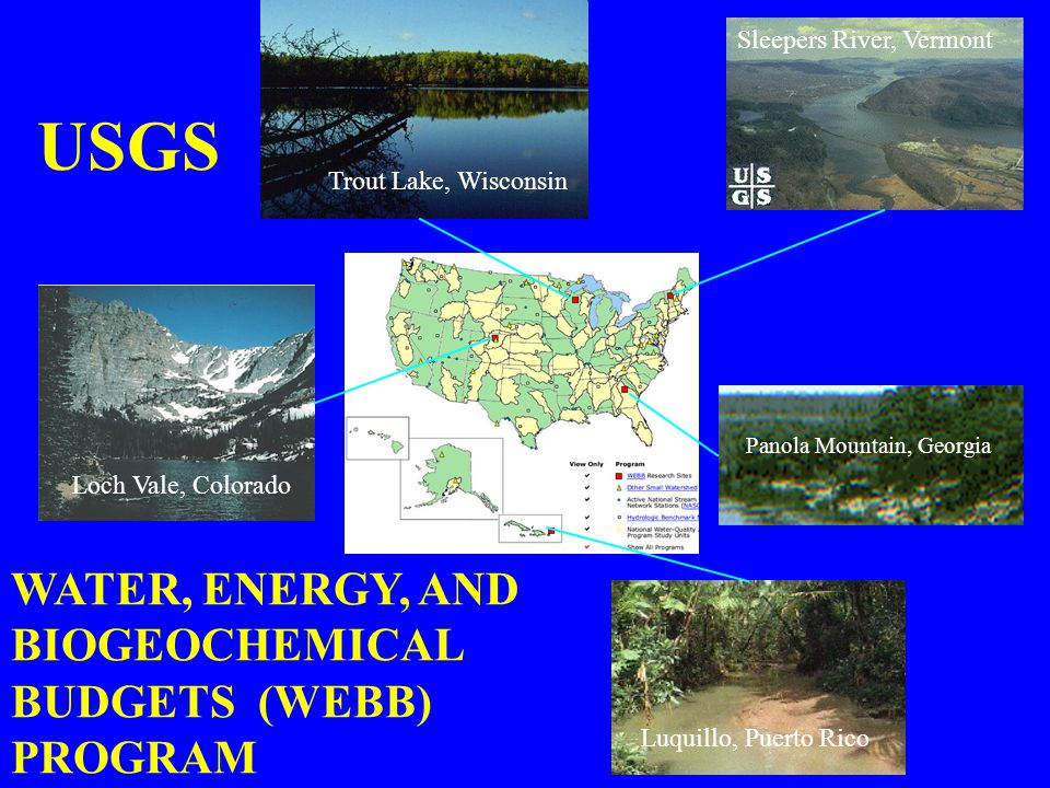 USGS WATER, ENERGY, AND BIOGEOCHEMICAL BUDGETS (WEBB) PROGRAM