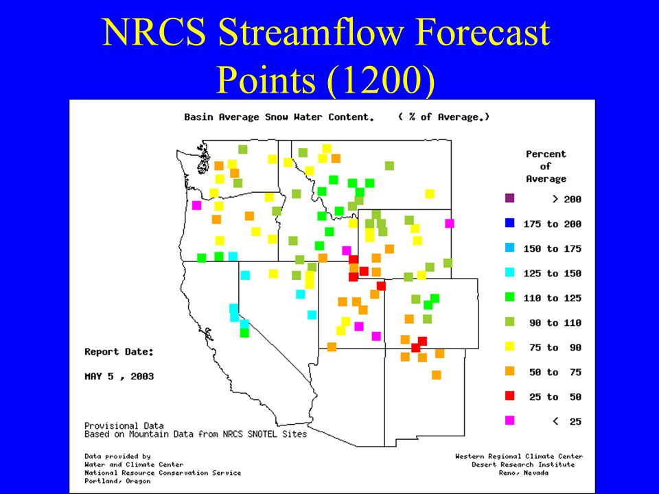 NRCS Streamflow Forecast Points (1200)