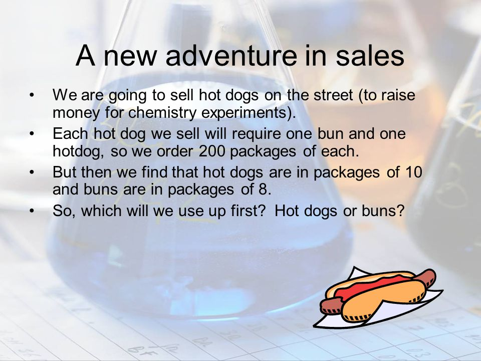 A new adventure in sales