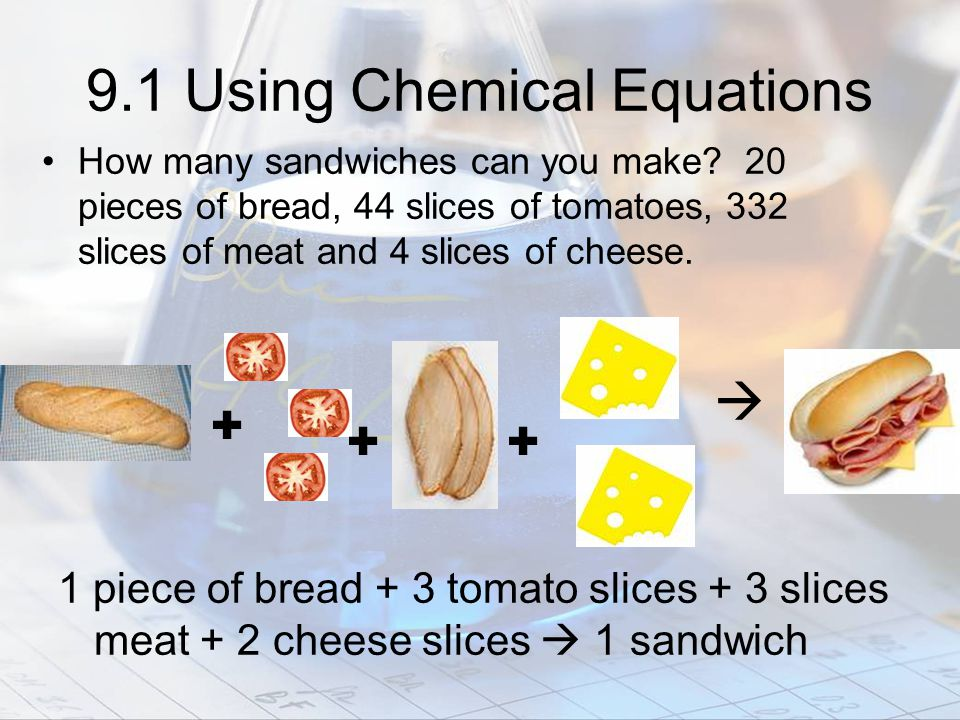 9.1 Using Chemical Equations