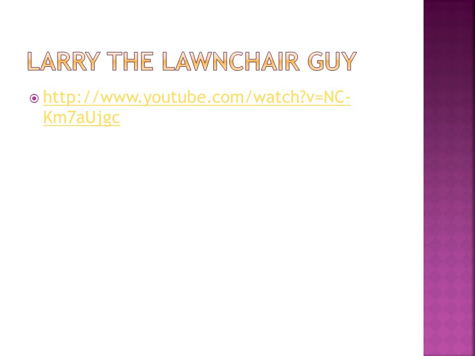 Larry the lawnchair guy
