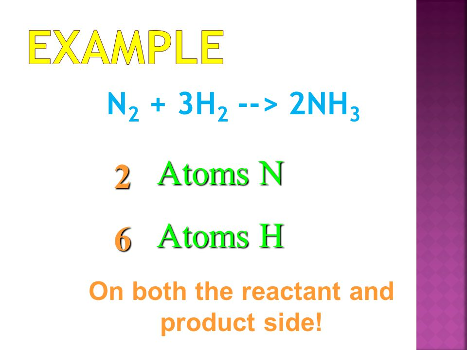 On both the reactant and product side!