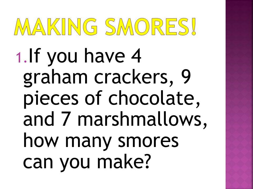 Making Smores.
