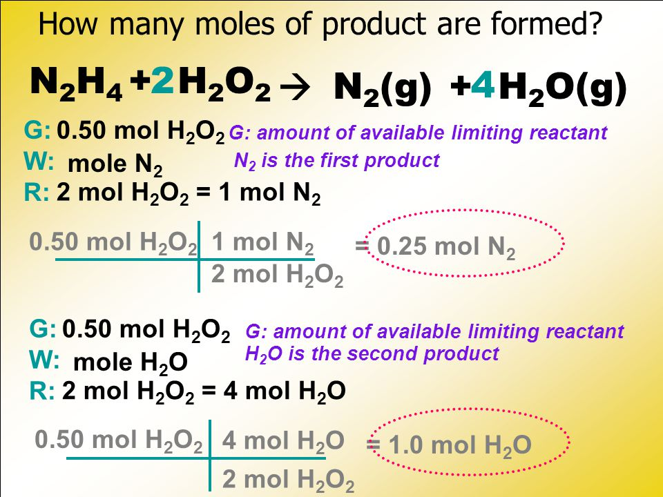 How many moles of product are formed