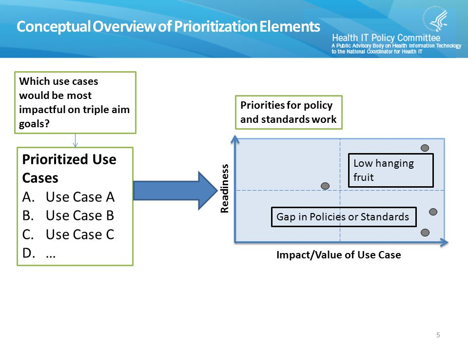 Conceptual Overview of Prioritization Elements