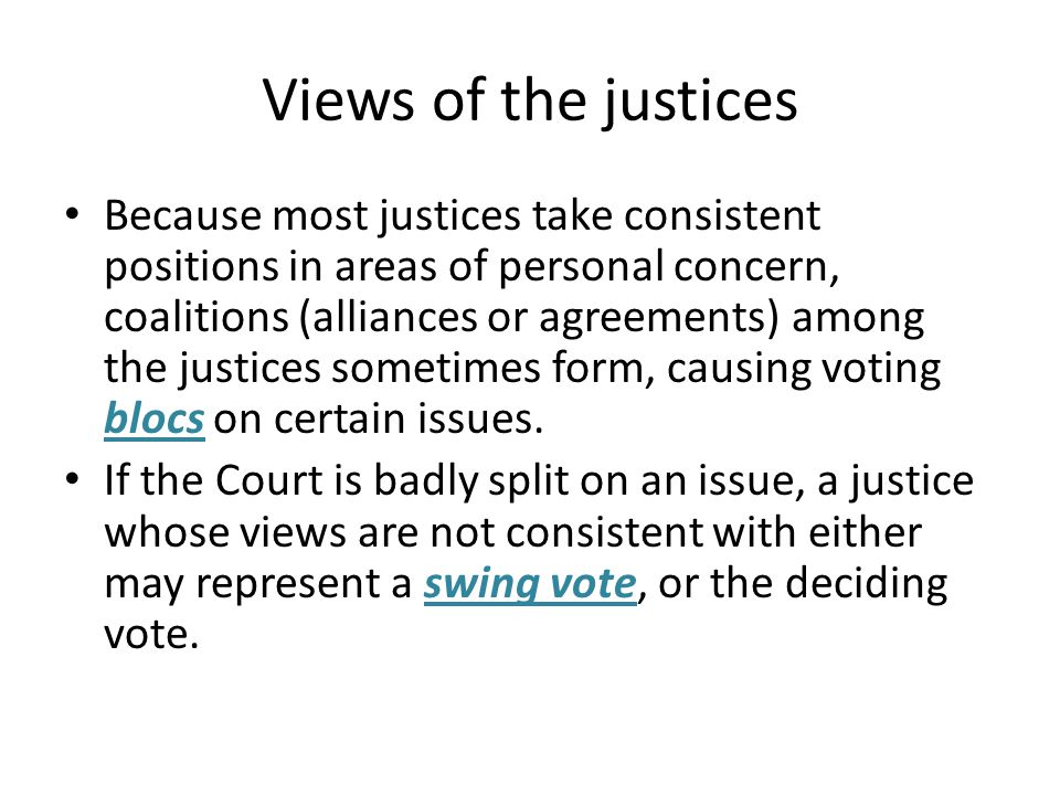 Views of the justices
