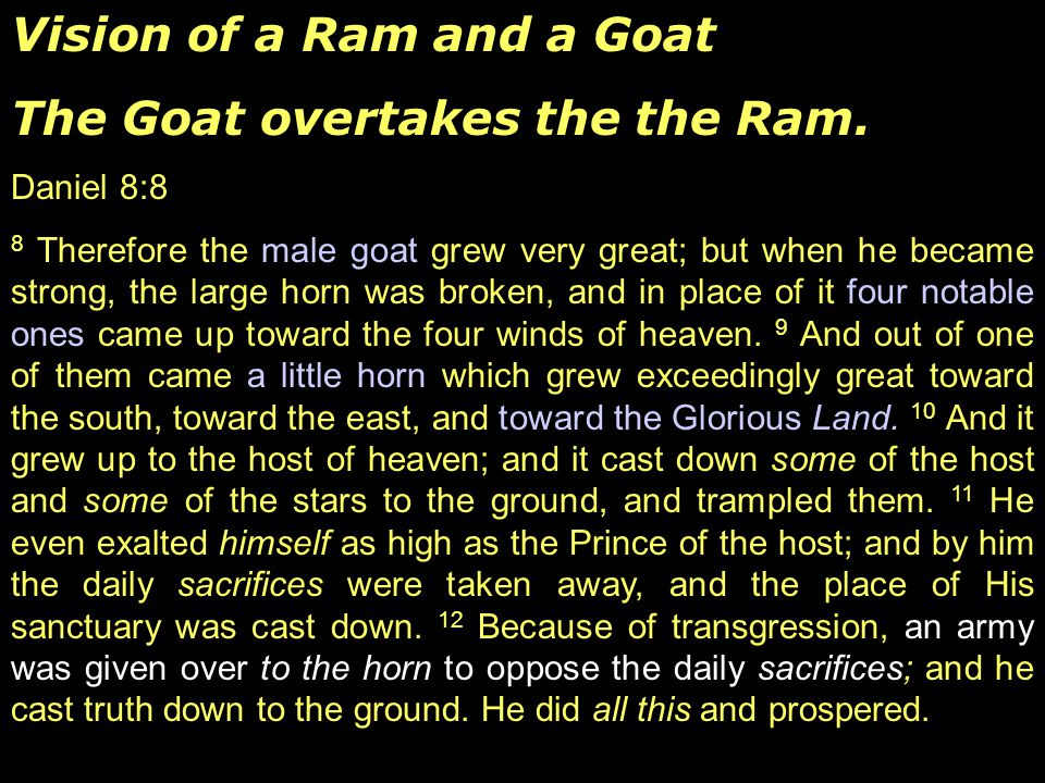 Vision of a Ram and a Goat The Goat overtakes the the Ram.