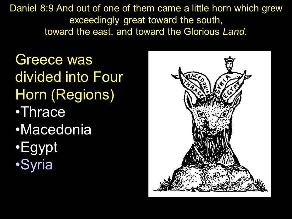 Greece was divided into Four Horn (Regions)
