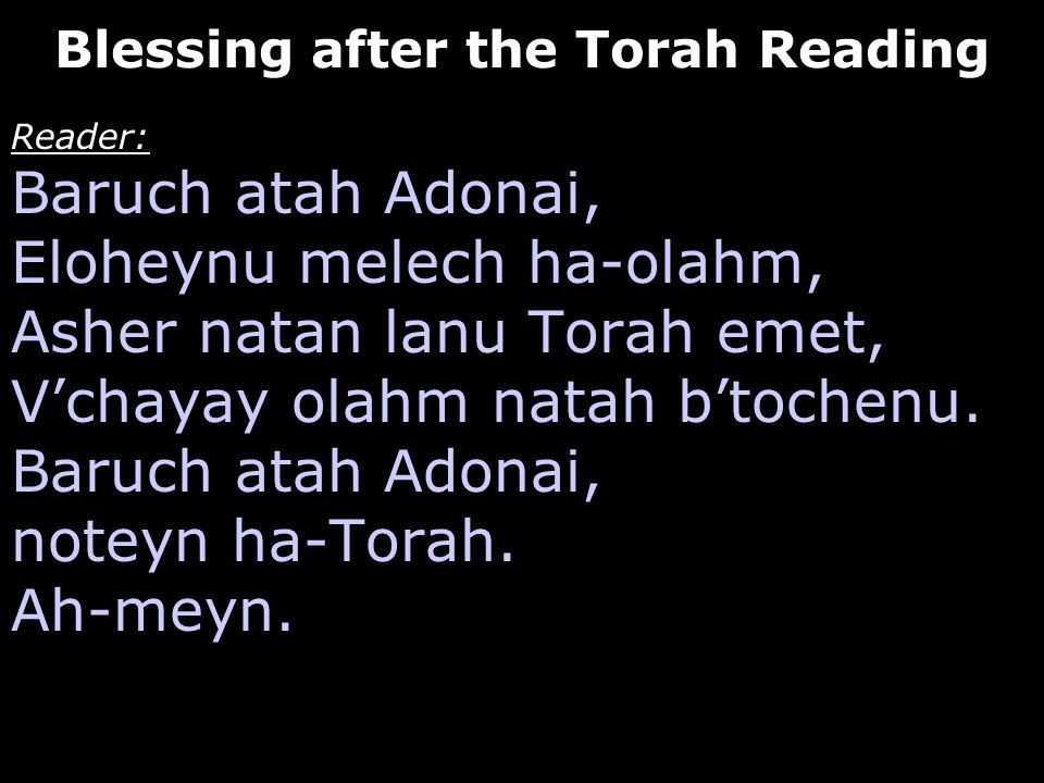 Blessing after the Torah Reading