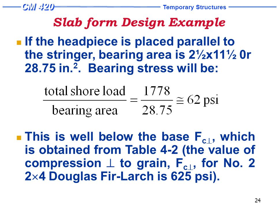 Slab form Design Example