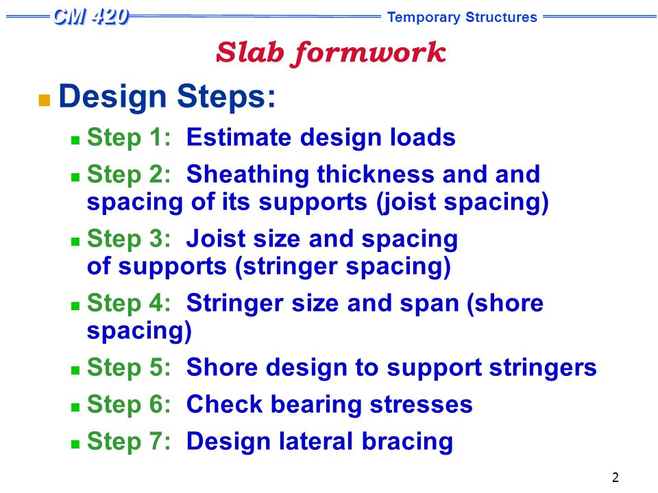 Slab form Example
