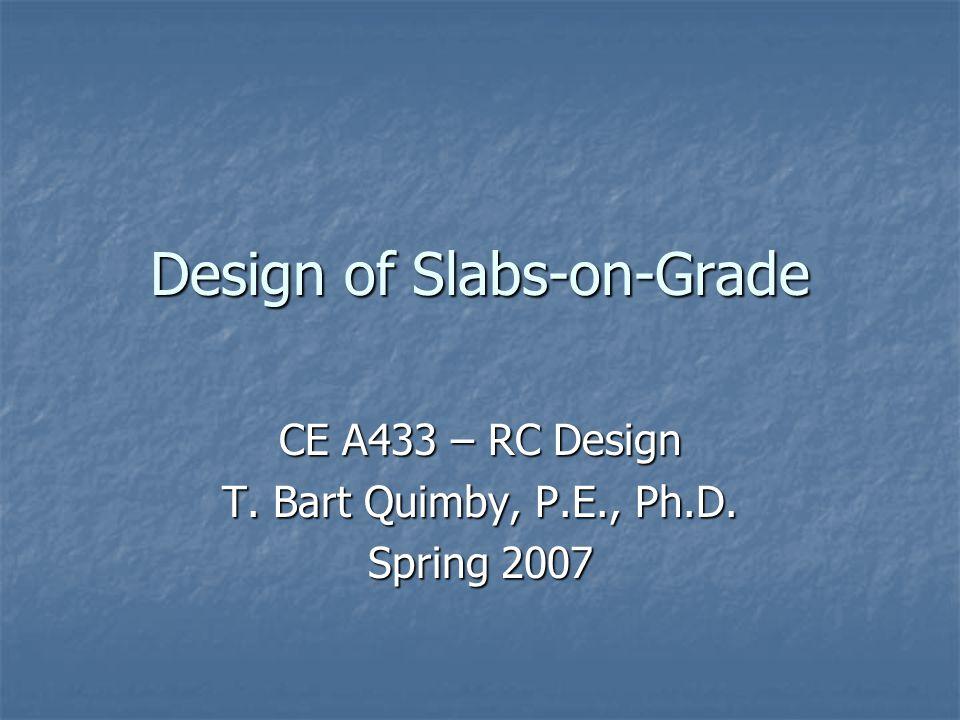 Design of Slabs-on-Grade