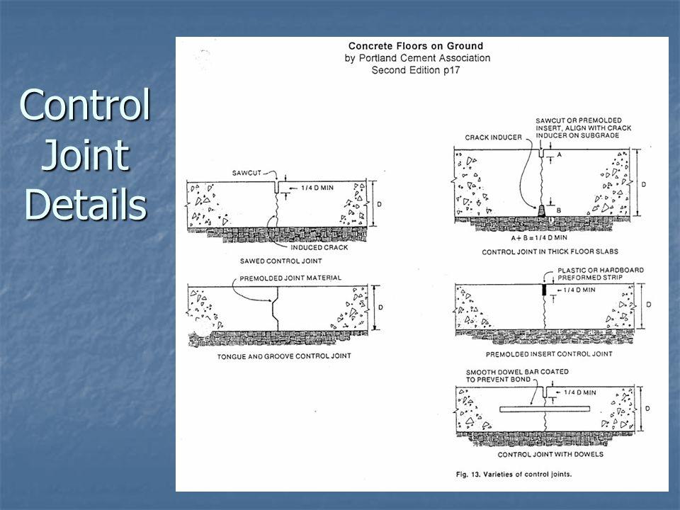 Control Joint Details