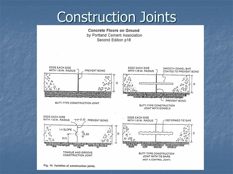 Construction Joints