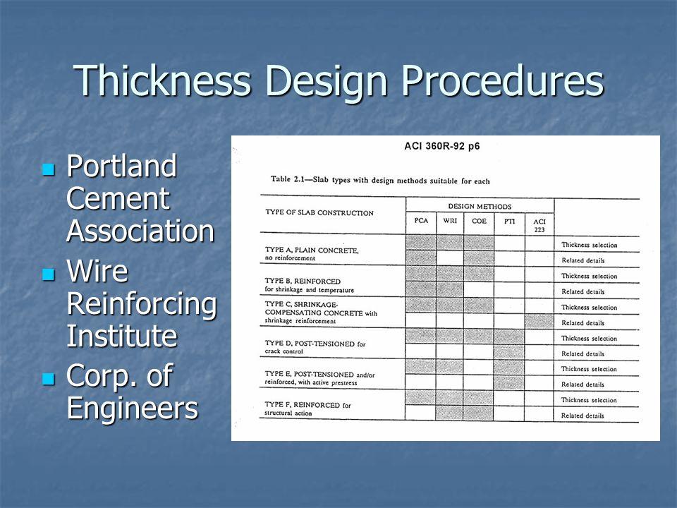 Thickness Design Procedures