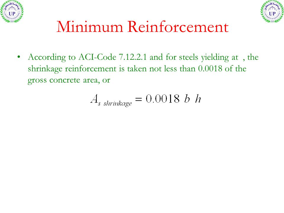 Minimum Reinforcement
