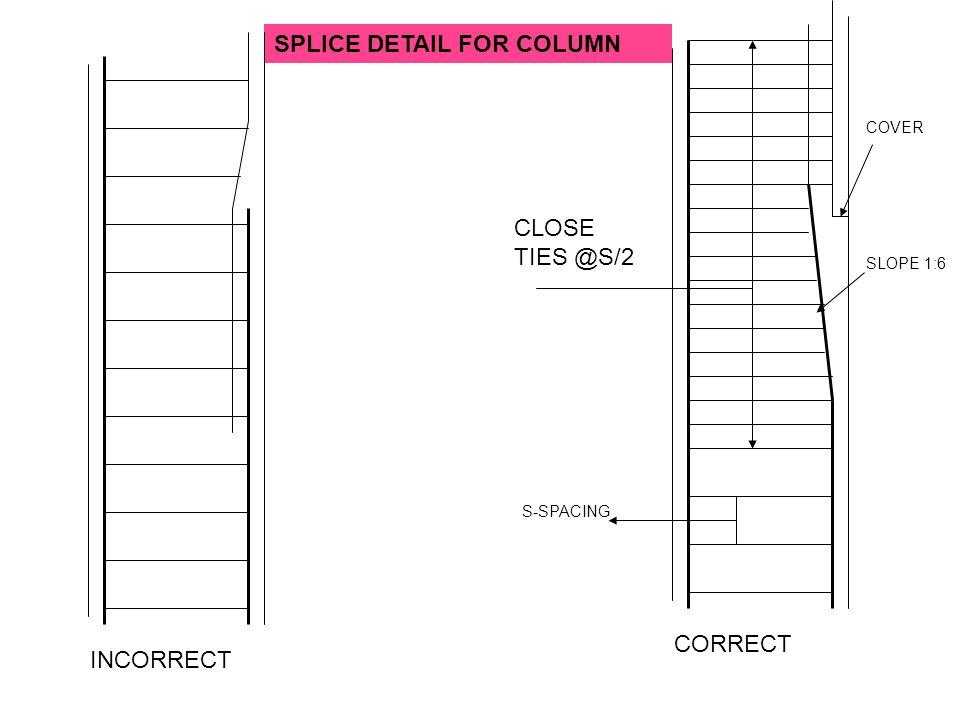 SPLICE DETAIL FOR COLUMN