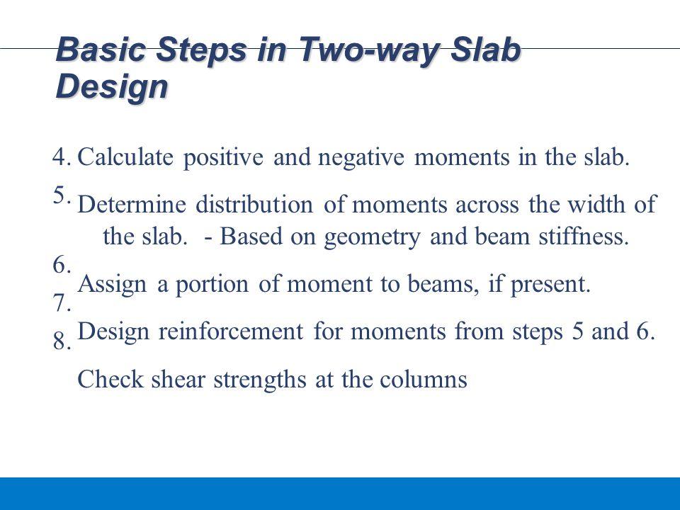 Basic Steps in Two-way Slab Design