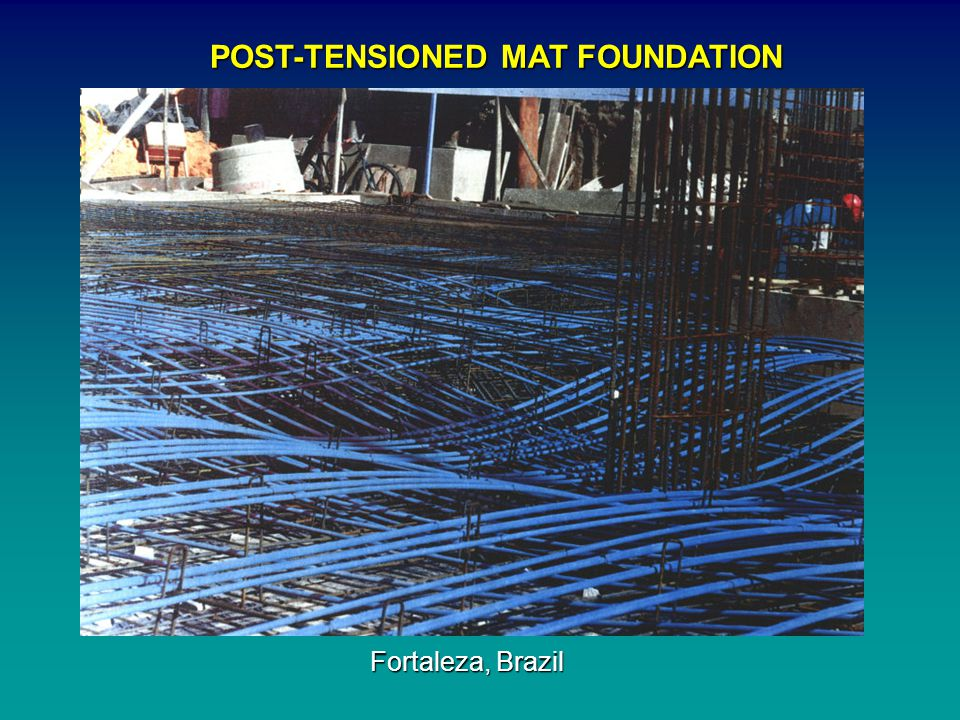 POST-TENSIONED MAT FOUNDATION