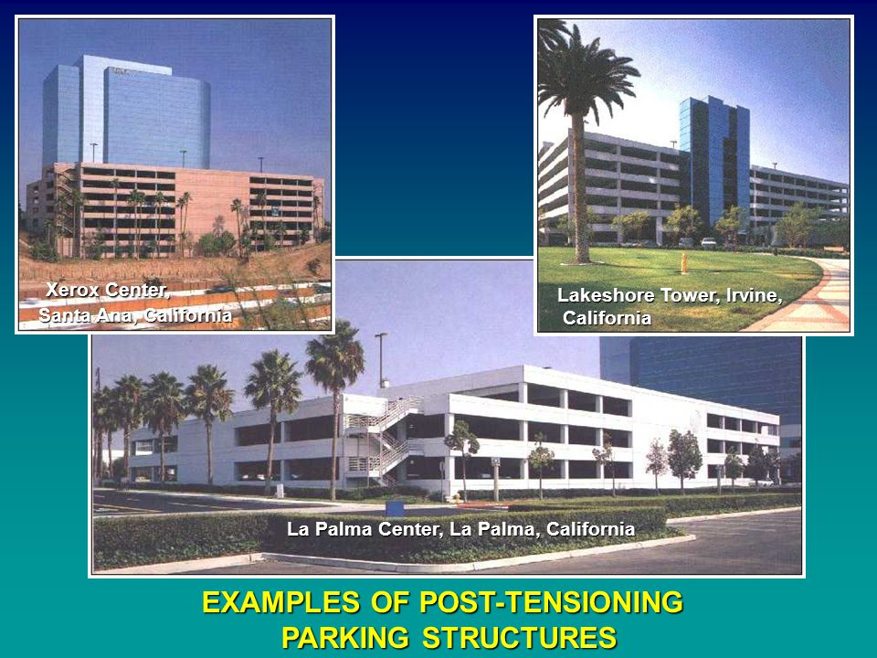 EXAMPLES OF POST-TENSIONING